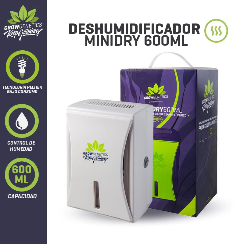DESHUMIDIFICADOR MINIDRY 600 ML - GROW GENETICS