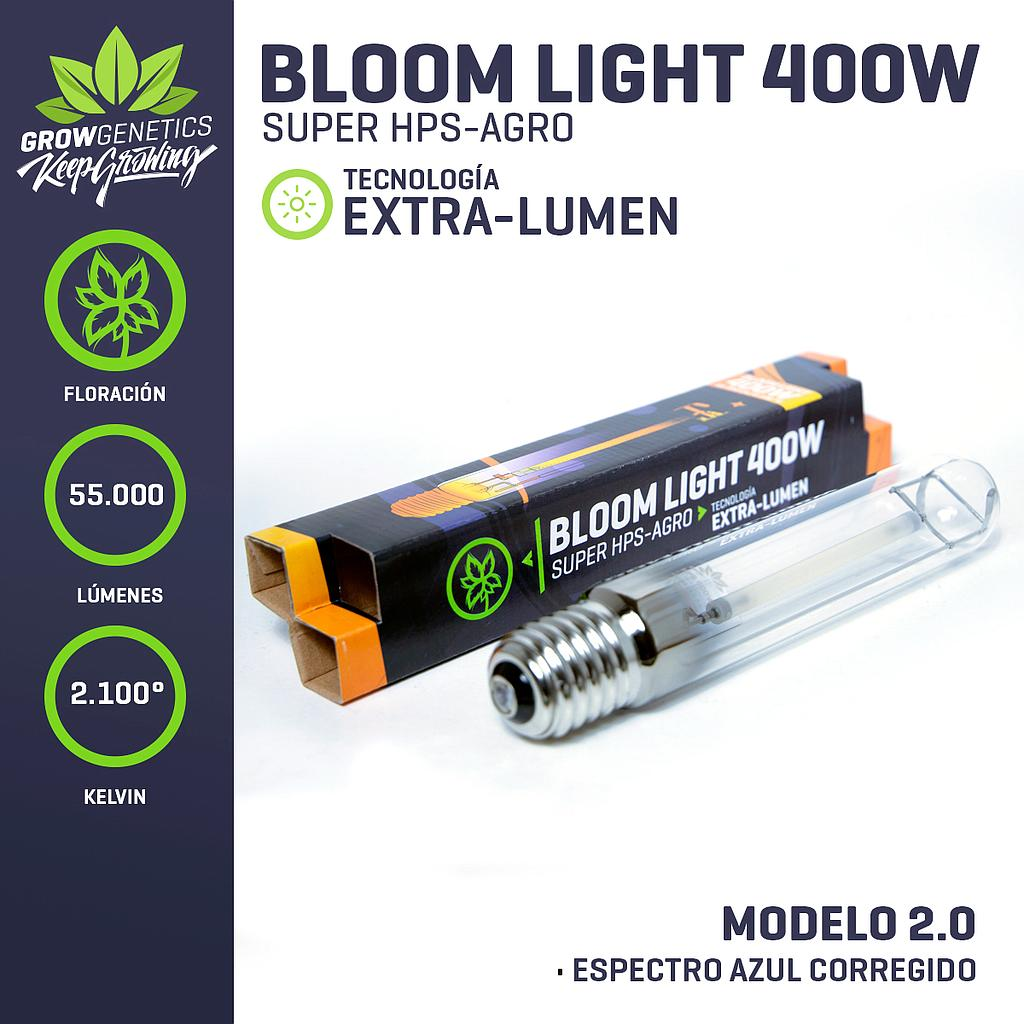 AMPOLLETA BLOOM LIGHT EXTRA LUMEN 400 W - GROW GENETICS
