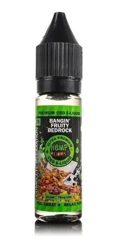 ESENCIA BANGIN FRUITY BEDROCK CBD (75 MG) 16,5 ML - HEMP BOMBS
