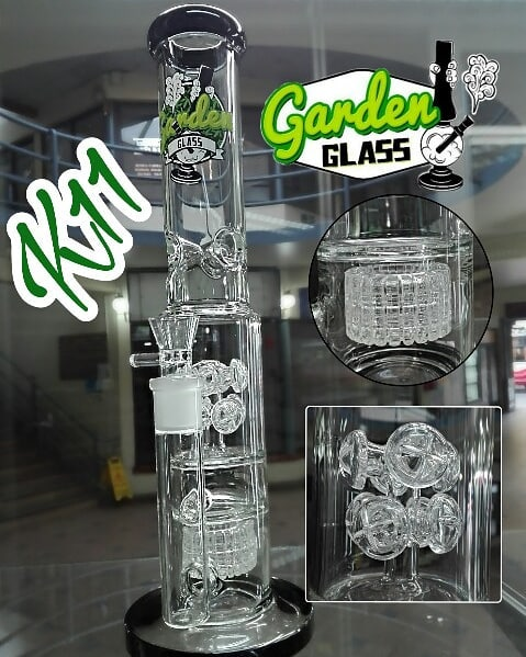 BONG K11 38 CM PYREX BLACK - GARDEN GLASS