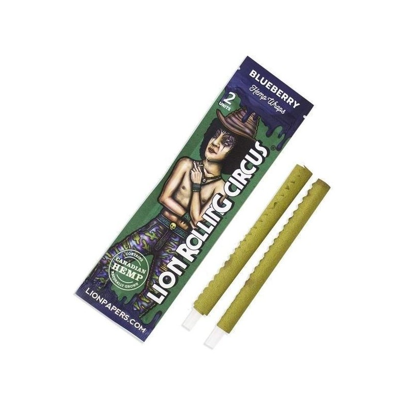 BLUNT HEMP WRAP BLUEBERRY - LION ROLLING CIRCUS