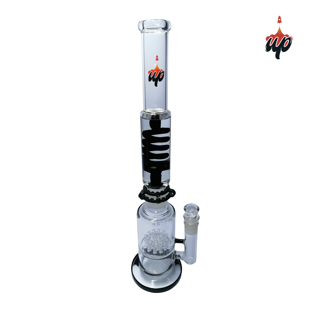 BONG GLICERINA CON BASE ALTURA 47 CM, ESP. 5 MM BUPG64 - UP